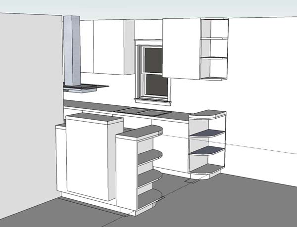 Kitchen Remodel - Concept Sketch