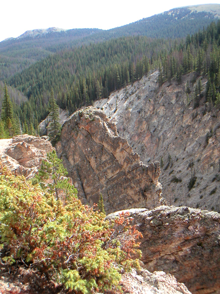 The Little Yellowstone Canyon is on the Colorado River Trail south of the La Poudre Pass