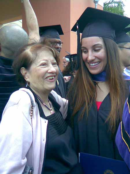 12-12-15 Rebecca at Graduation with Mima