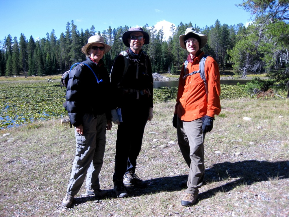 15-09 Grand Teton NP -021 - Joan, Jim, Henry Hermitage Point Trail