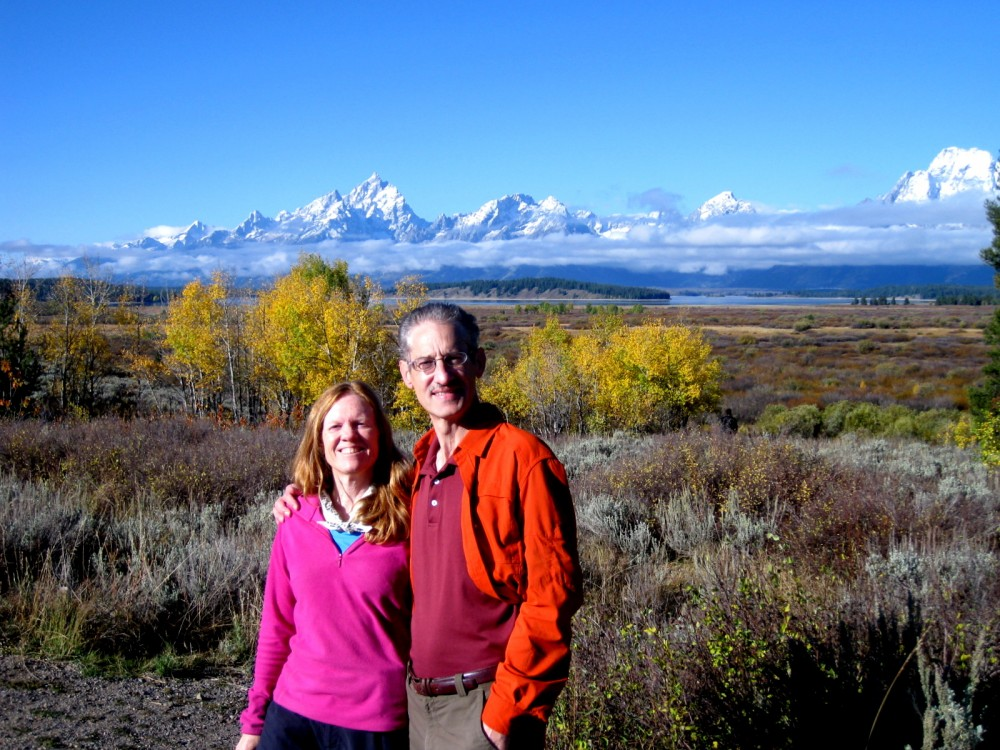15-09 Grand Teton NP -002 - Willow Flats Overlook Pam and Henry