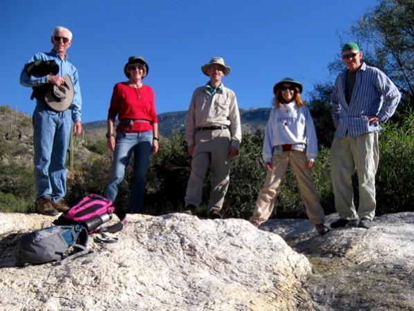 15-12-16 Saguaro NP East Garwood Dam - Greg, Terry, Henry, Marcy, Roger