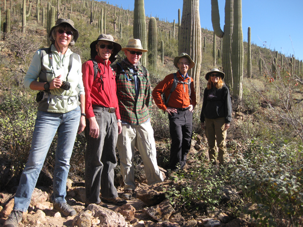 15-12-30 Tucson Mtn Park - Jetman-Bowen-Lee Hidden Canyon -004 Terry Greg Roger Henry Marcy