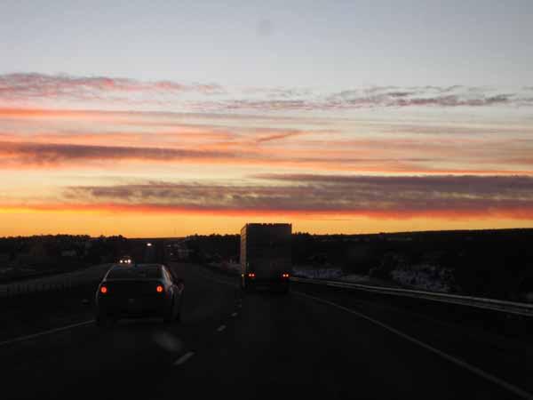 16-01-14 Sunrise - The Drive Home